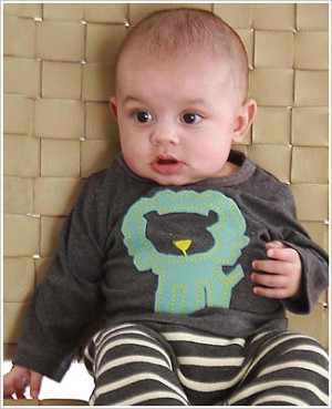 Baby Lulu Pepper Toes ZOO PALS Lion L/S Tee