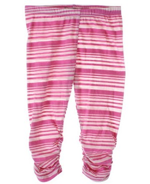 5y Baby Nay *Big Citizen* Fuchsia Striped Leggings