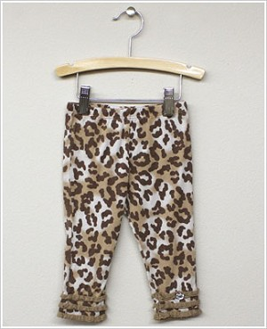 Baby Nay *Big Citizen* Leopard Toffee Brown Knit Ruffle Pants