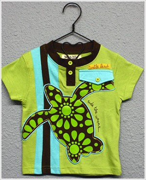 Baby Nay *Da Lil Guyz* Green Turtle Beach Shirt