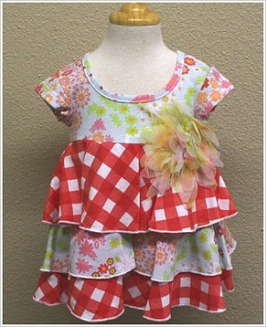 Baby Nay *Yumi Flowers* Tiered Cindy Dress