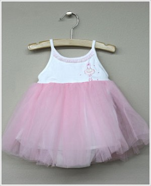 Magnolia Baby White and Pink Tutu Precious Ballerina Dress and Diaper Cover