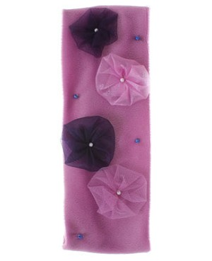 ~II: Balu Lavender Velour Headband With Beads & Flowers