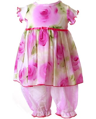 ~Size 3m-6m II: Balu Icing Cerise Dress & Bloomer Set