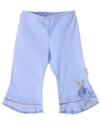 ~Balu Light Blue Pants With Floral Accents