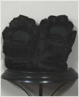 Bear Hands Brown Youth Faux Fur Mittens