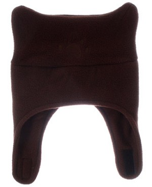 Bear Hands Chocolate Brown Fleece Chin Strap Hat