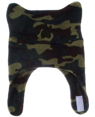 Bear Hands Camouflage Fleece Chin Strap Hat