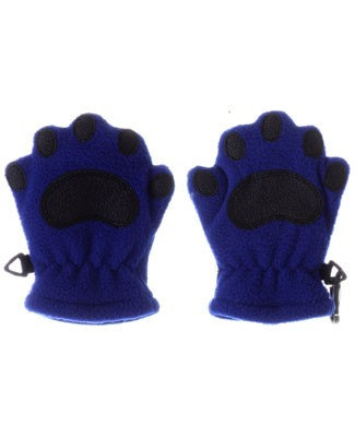 Bear Hands Cobalt Blue Fleece Mittens
