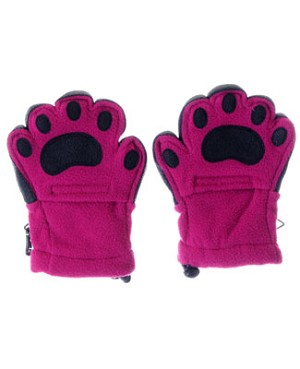 Bear Hands Fuchsia Youth Fleece Mittens