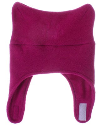 Bear Hands Fuchsia Fleece Chin Strap Hat