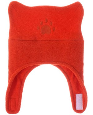 Bear Hands Bright Orange Fleece Chin Strap Hat