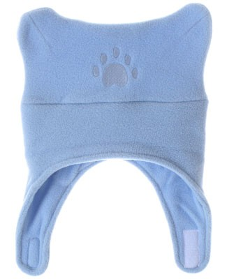 Bear Hands Powder Blue Fleece Chin Strap Hat