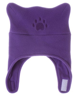 Bear Hands Light Purple Fleece Chin Strap Hat