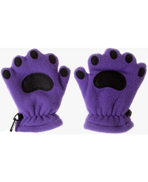 Bear Hands Light Purple Fleece Mittens