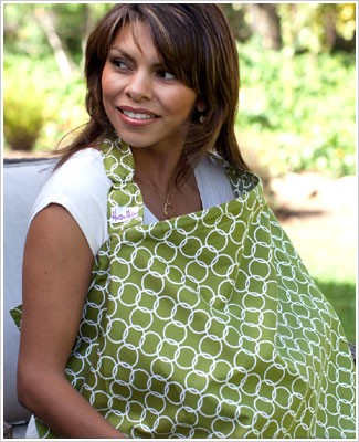 Bebe au Lait *Hooter Hiders* AERO Green/White Nursing Cover