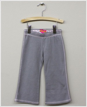 Kate Mack Grey Pants w/ Pink Stitching