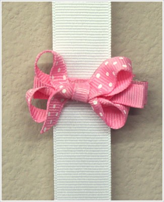 Blooming Bows Light Pink Polk-a-Dot Bitty Bow