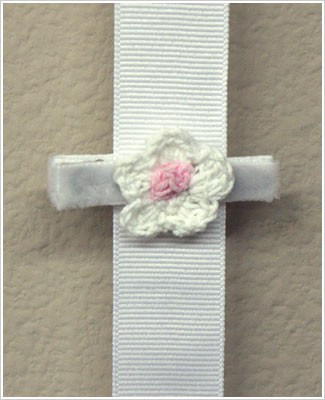 Blooming Bows White Mohair Flower Hair Clip