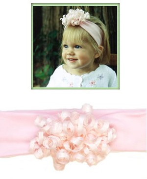 Z: Blooming Bows Newborn Curly Headband