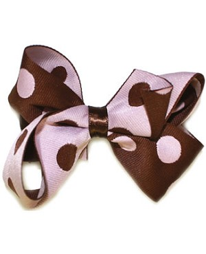 Blooming Bows Retro Dot Hair Bow Barrette *Two Colors*