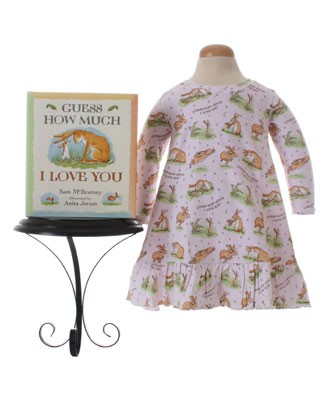 II: Books to Bed Pink *Guess How Much* Nightgown with Book