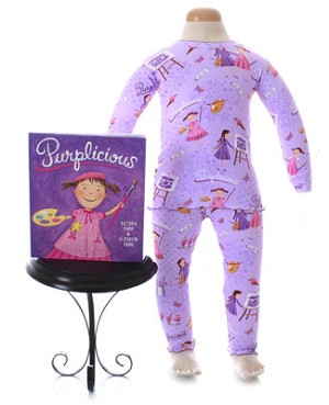 II: Books to Bed *Purplicious* Purple 2pc L/S Jammie Set with Book