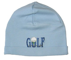 Z: Baby Blue Golf Beanie Hat