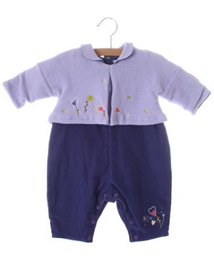 Catimini *Champ D' Amour* Purple And Lavender L/S Romper