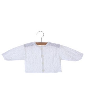 Clayeux White Knit Sweater