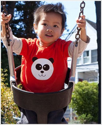 Colette Kids S/S Orange Ling Ling Panda Tee