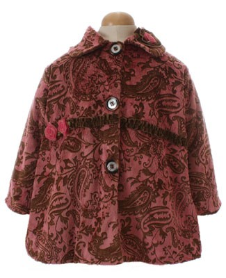 Corky & Company Flowers Of Persia Brown Sweet Pea Coat