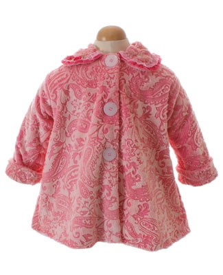 Corky & Company Flowers Of Persia Pink Sweet Pea Coat