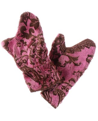 Corky & Company Flowers Of Persia Brown Mittens
