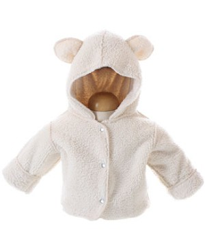 Corky & Company Snuggle Up Cream Jacket With Ears
