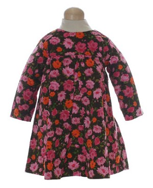 II: Cotton Kids Chocolate Rose Print Dress
