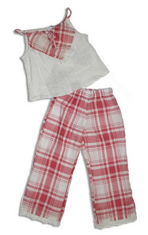 II: Cozy Toes 2pc Eyelet/Red Summer Set