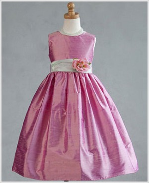 Z: Crayon Kids Pink Sleeveless Dress w/ Flower