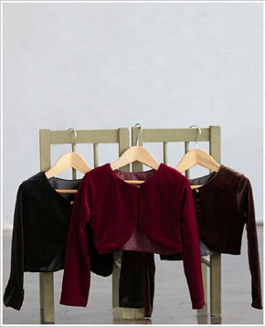 Z: Crayon Kids BROWN Stretch Velvet Cardigan