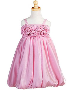 Z: Crayon Kids PINK Strappy Tri-Flower Bubble Dress
