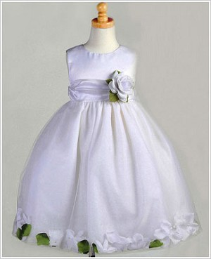 Z: Crayon Kids White Sleeveless Petal Dress