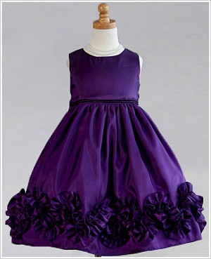 Z: Crayon Kids Purple Sleeveless Ruffle Bottom Dress