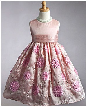 Z: Crayon Kids Pink Sleeveless Chrysanthemum Dress