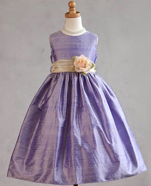 Z: Crayon Kids Purple Sleeveless Dress w/ Flower
