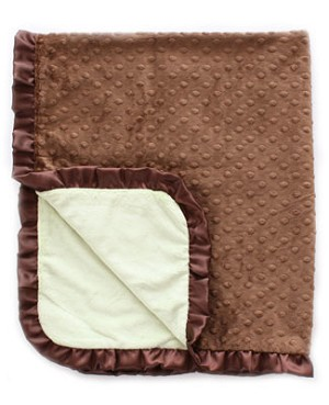 II: Crystaleigh Baby *Cocoa* Green & Cocoa Crib Blanket