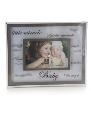 Cupecoy Home Fashions BABY Floating Frame with Silkscreen Wording