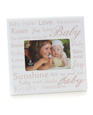 Cupecoy Home Fashions Wooden Pink Photo Frame w/ Baby Expressions