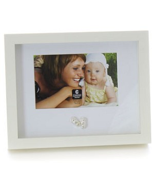 Cupecoy Home Fashions Cream Baby Frame w/ Shoe Charm