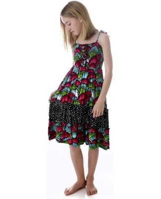 Danica and Dylan Spaghetti Strap Floral Tiered Dress