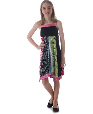 Danica and Dylan Black/Multi Colored Patchwork Dress